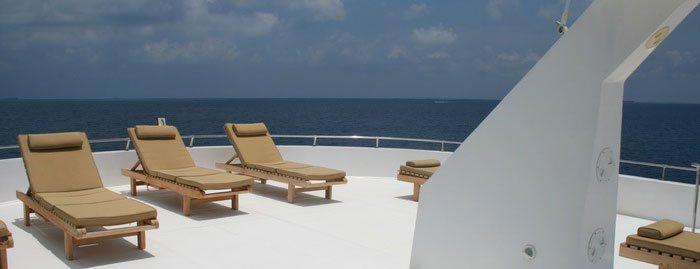 Horestco Outdoor Furniture on a Maldivian flagged cruise ship