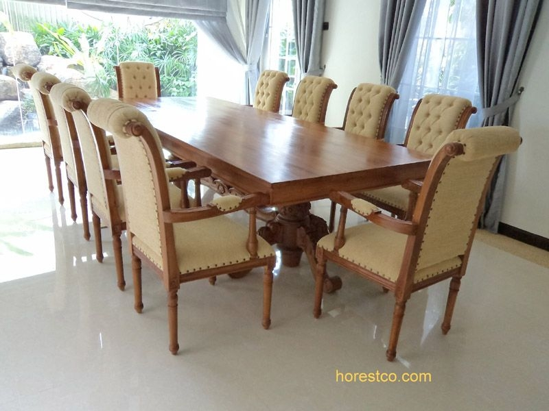 Teak Dining Furniture Indoor Dining Tables Sophia Dining Table - Indonesian teak dining table
