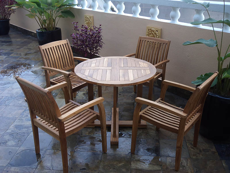 condominiums furniture Mayang Court TIARA ROUND TABLE - TIARA STACKING CHAIR