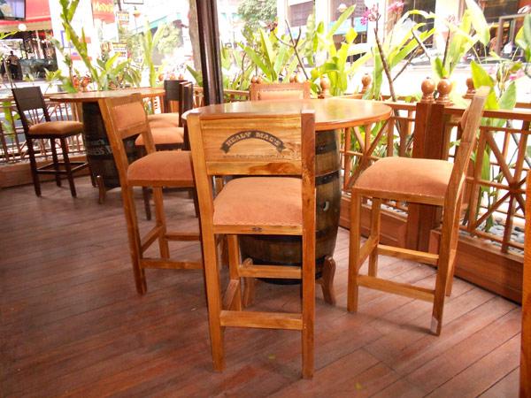 restaurants furniture Healy Macs BAHAMAS BAR CHAIR - HEALY BARREL