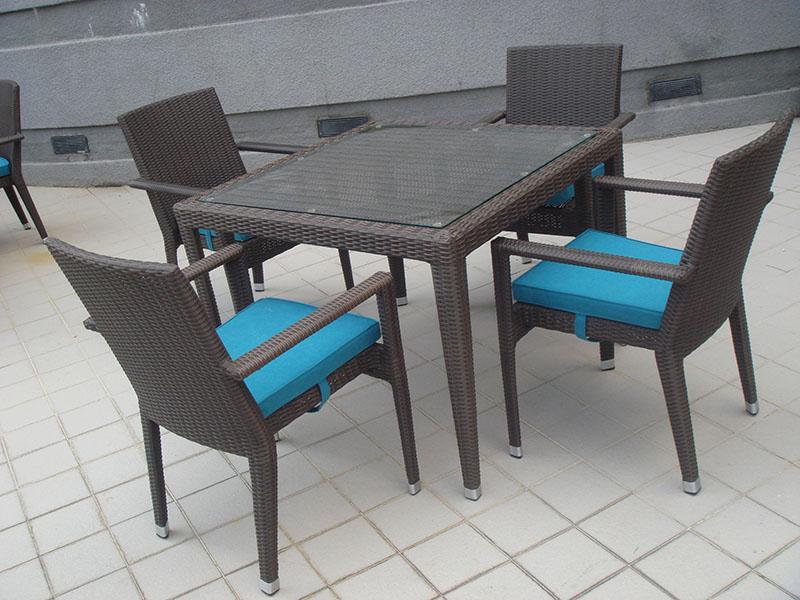 hotels furniture Pan Pacific Hotel HAWAII GLASSTOP TABLE - HAWAII CHAIR