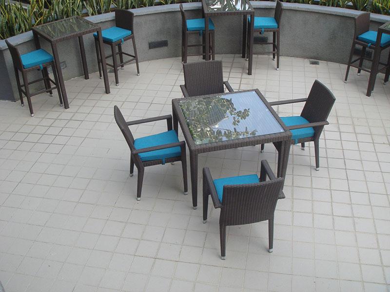 hotels furniture Pan Pacific Hotel HAWAII GLASSTOP TABLE - HAWAII CHAIR - PANAMA BAR TABLE - PANAMA BAR CHAIR