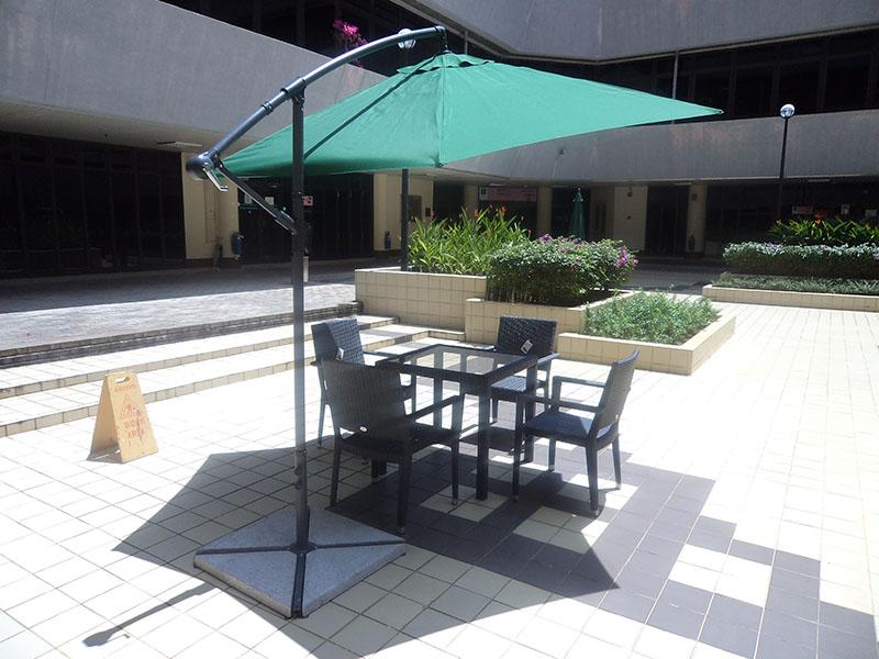hotels furniture Petronas HAWAII ARM CHAIR - PANAMA GLASSTOP TABLE