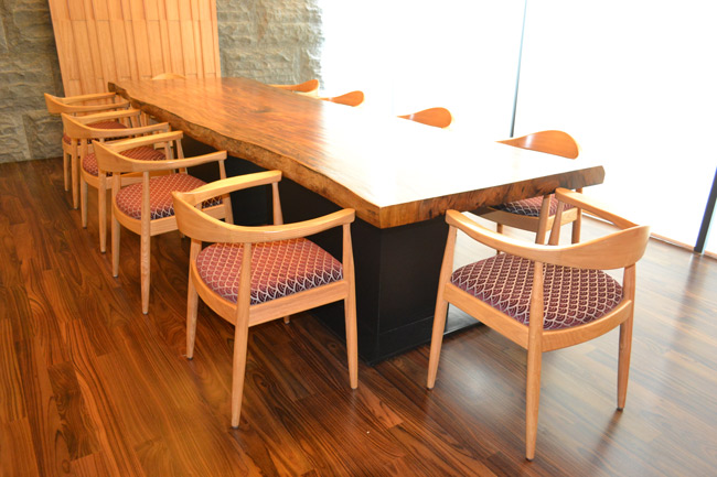 restaurants furniture Kampachi Restaurant(Plaza33) MEHFIL DINING TABLE - MEHFIL CHAIR