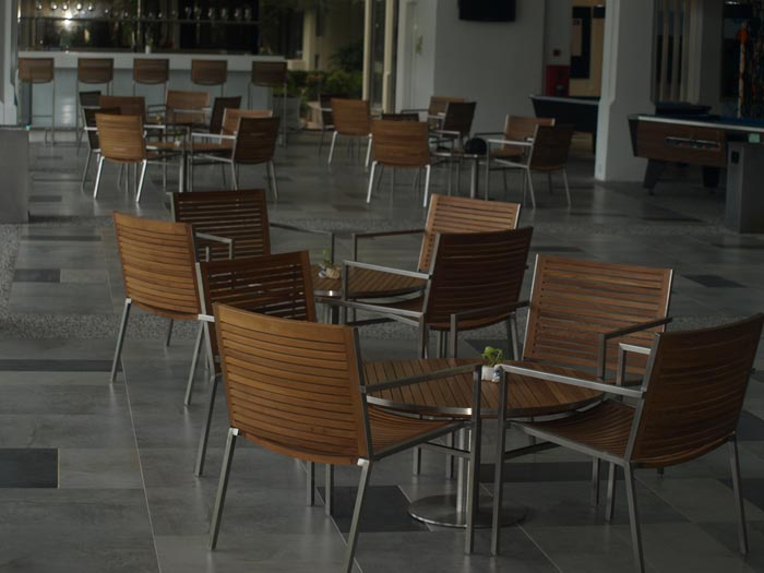 hotels furniture The Pulai Desaru Resort and Spa ACCURA DINING CHAIR - ACCURA ROUND TABLE