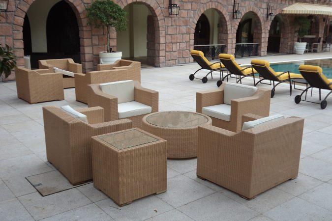 hotels furniture Colmar Tropicale HAWAII SOFA - HAWAII ROUND COFFEE TABLE