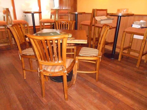 restaurants furniture Healy Macs CONCORDE CHAIR - BAHAMAS DINING TABLE - BAHAMAS BAR TABLE