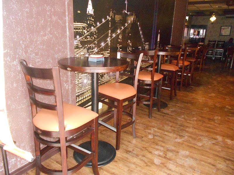 restaurants furniture JAGUAR SUPPER CLUB SERENE BAR CHAIR - MARINO BAR TABLE