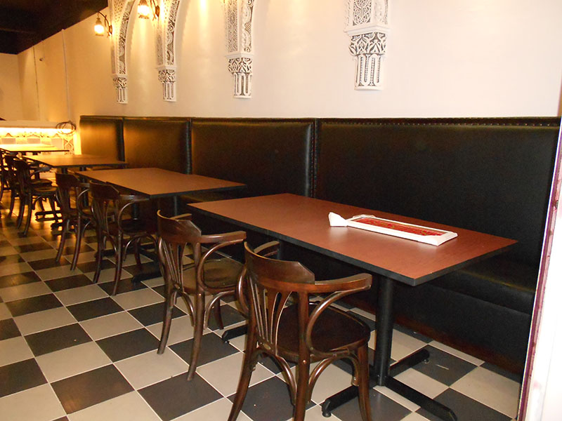 restaurants furniture Madfoon Palace VIP BOOTH - BIJAN CHAIR - PUBLIKA DINING TABLE