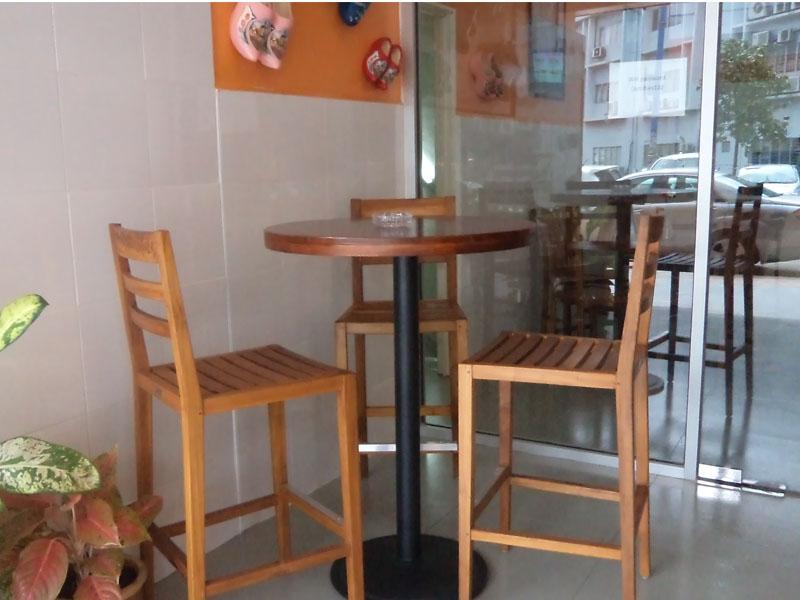 restaurants furniture My Dutchies BAHAMAS ROUND TABLE - TIARA BAR CHAIR