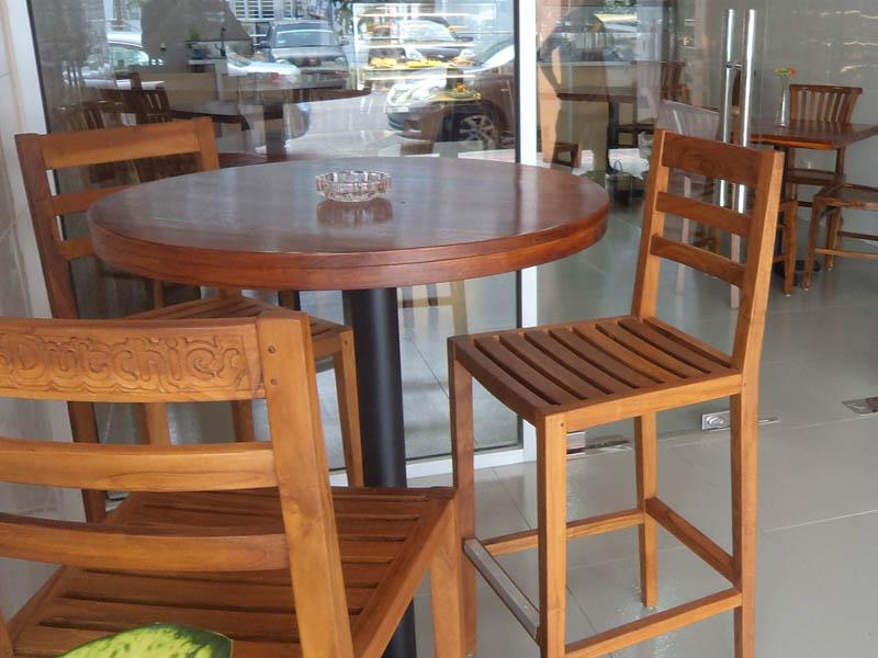 restaurants furniture My Dutchies TIARA BAR CHAIR - BAHAMAS BAR TABLE