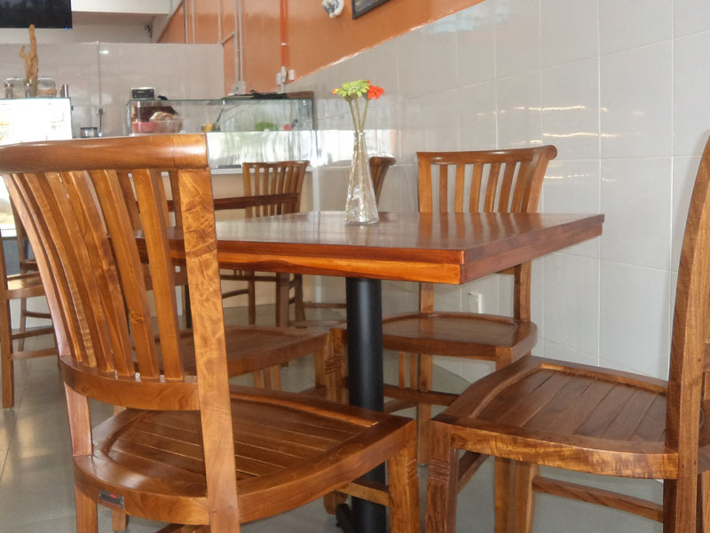 restaurants furniture My Dutchies CONCORDE CHAIR - BAHAMAS DINING TABLE