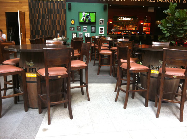 restaurants furniture Malones, Irish Restaurant & Bar, Singapore HEALY BARREL - VERON BAR CHAIR - VERON BAR CHAIR