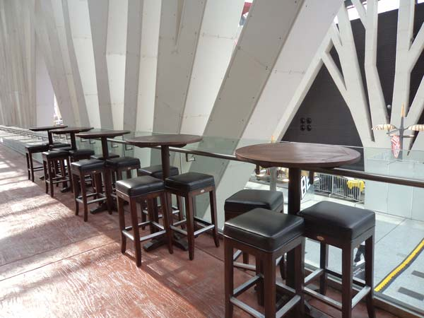 restaurants furniture Malaysian Bars Association (MBA) STYLER BAR STOOL - SAKURA ROUND BAR TABLE