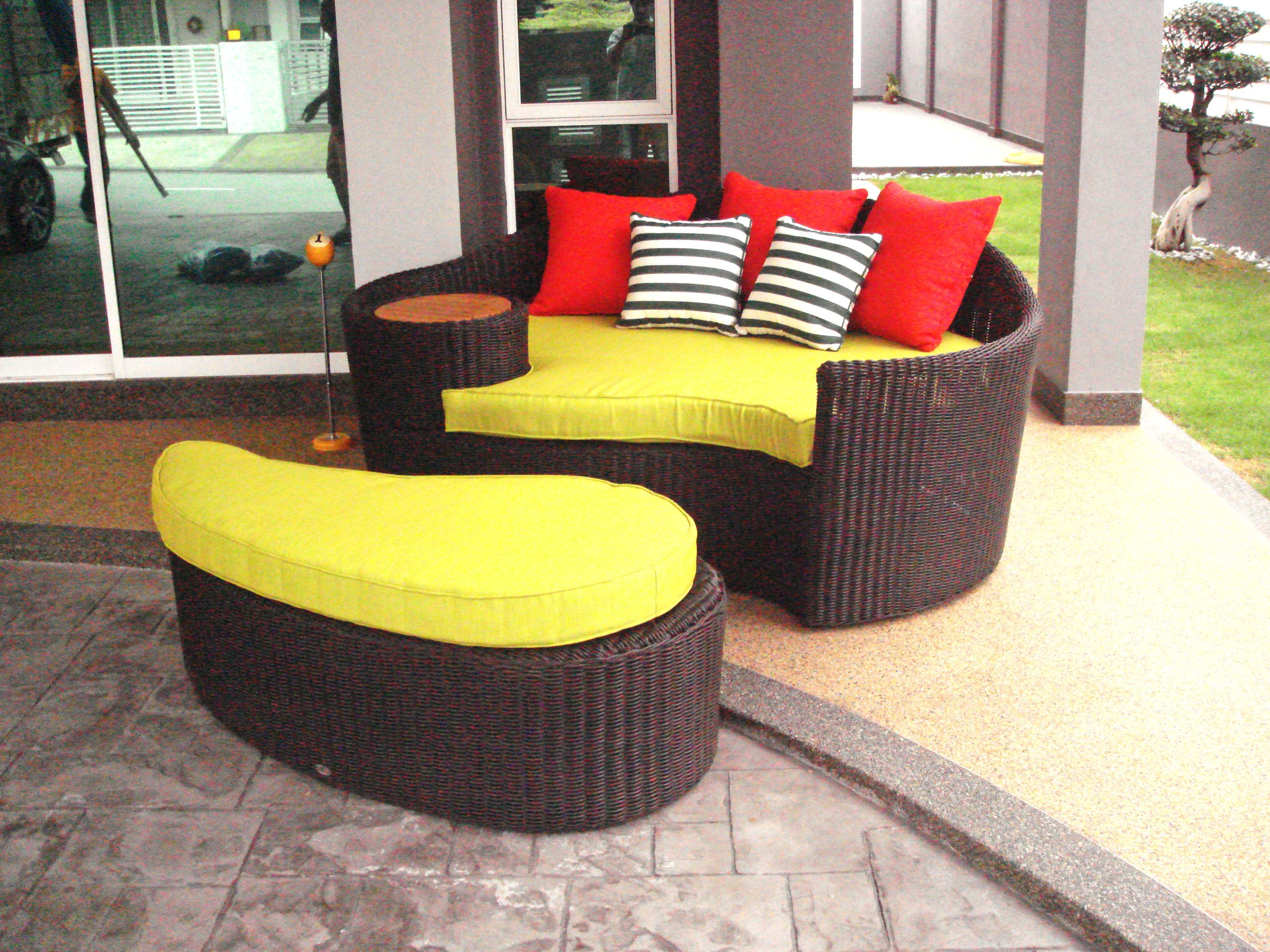 Bali daybed outdoor sofa teak furniture malaysia and indonesia